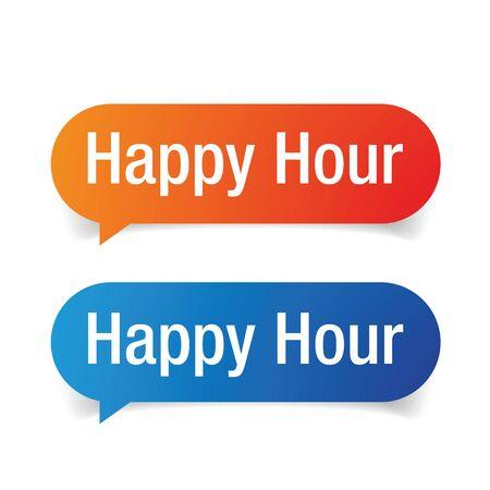 Happy hour speech bubble vector
