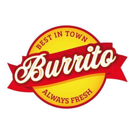 Vintage Burrito sign label lettering Ilustração