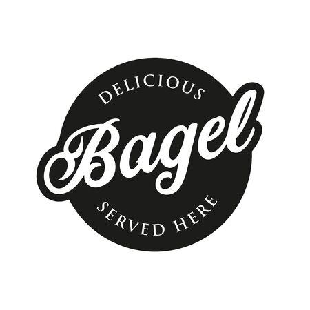 Vintage Bagel sign label lettering