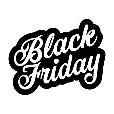 Black Friday sign lettering retro