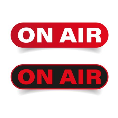 On Air sign red