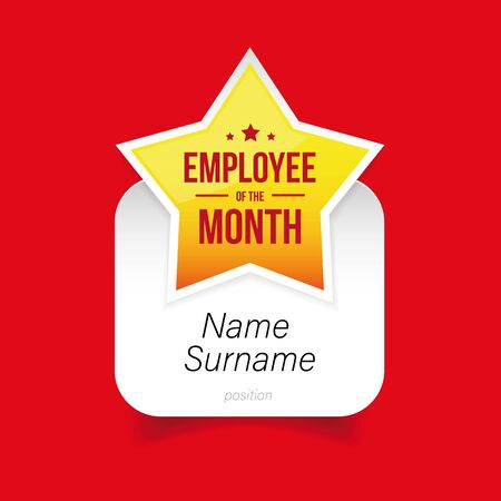 Best Employee of the Month award template