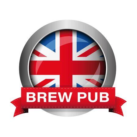 British Brew Pub badge sign