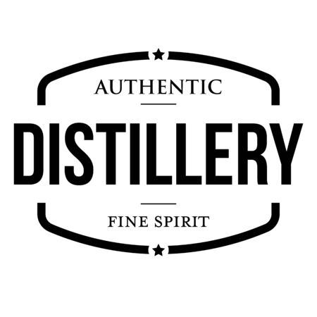 Distillery Fine Spirit vintage sign stamp