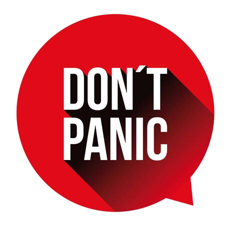 Dont Panic alert speech bubble