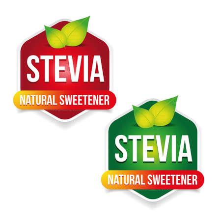 Stevia Natural sweetener label
