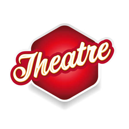 Theatre sign label lettering vintage