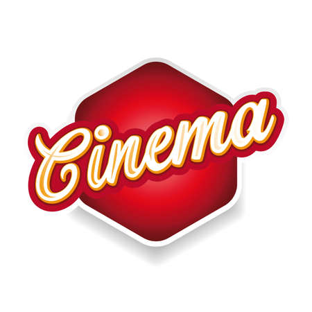 Cinema sign label lettering vintage