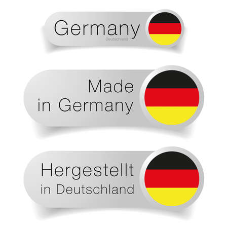 Made in Germany label flag set Ilustração