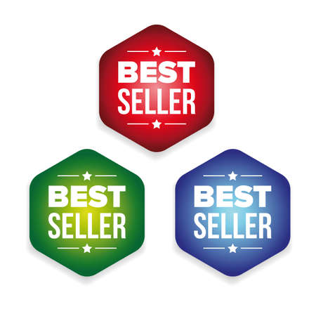 Bestseller colorful label set