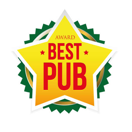 Best Pub award badge star