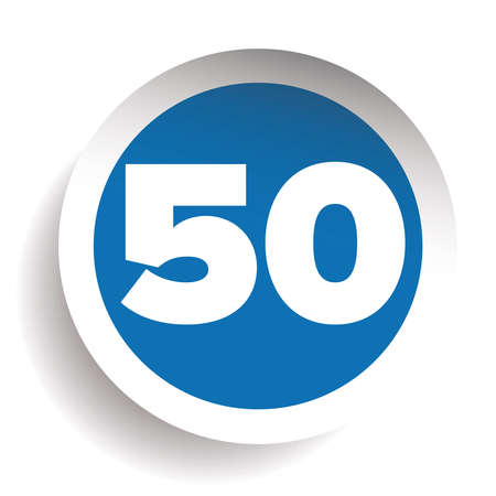 Number fifty icon vector