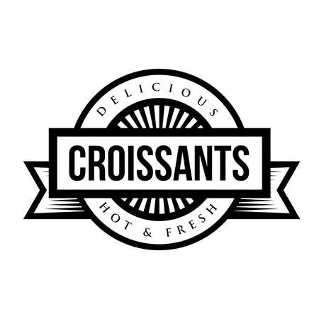 Delicious Croissants sign - vintage stamp