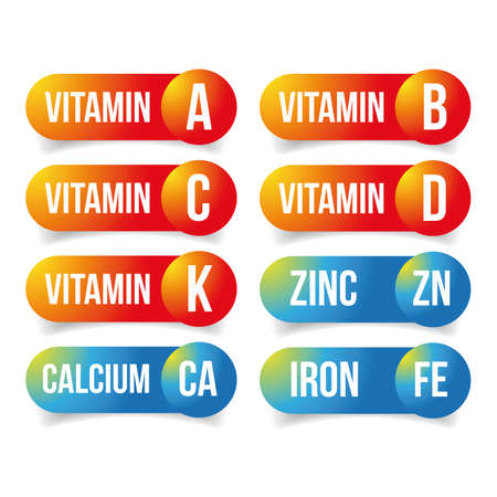 Food supplements Vitamins and minerals
