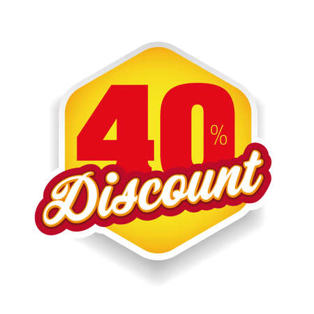 Fourty percent discount label vector