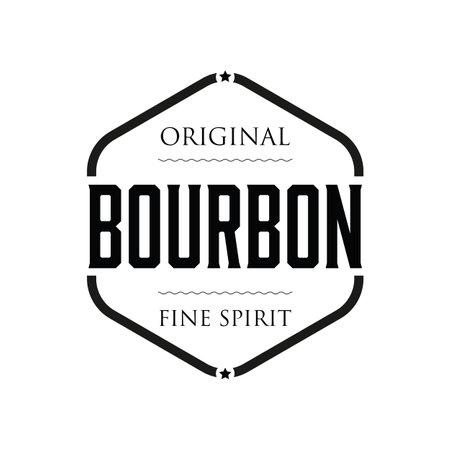 Original Bourbon vintage sign stamp