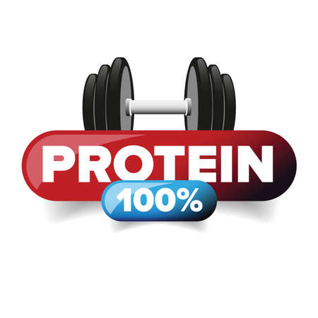 Whey Protein sign red label Ilustrace