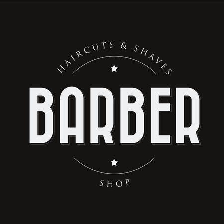Barber sign vintage stamp black Ilustrace