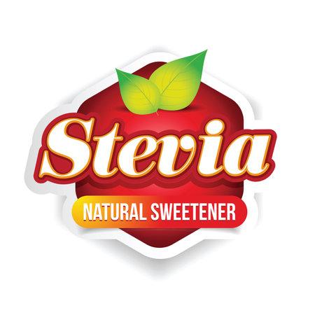 Stevia natural Sweetener sign label