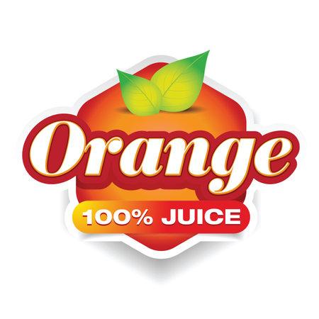 Orange Juice drink label sign