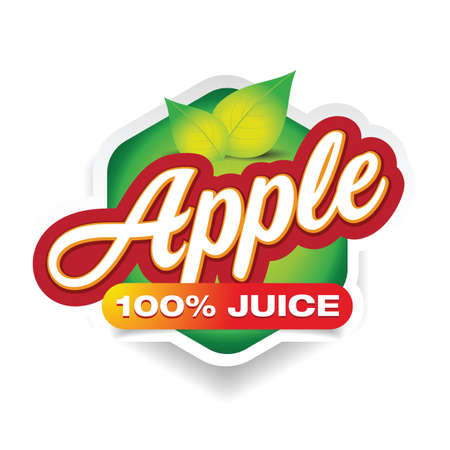 Apple Juice sign label green