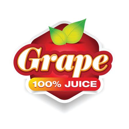 Grape juice sign label tag