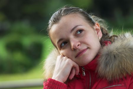 Young female is thinking about her future photo
