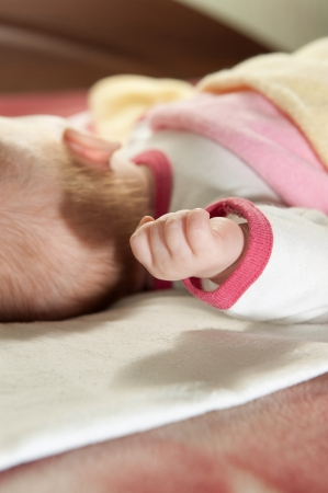 Little baby girl is sleeping at home Stock Photo - 14468804