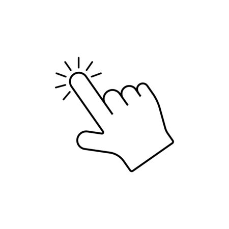 Hand click icon. Flat style vector illustration. 向量圖像