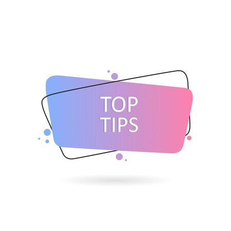 Top tips. Geometric hand drawn banners. Flat style vector illustration. Ilustração