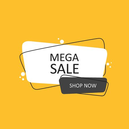 Sale banner template design, Big sale special offer. Geometric hand drawn banners. Flat style vector illustration.