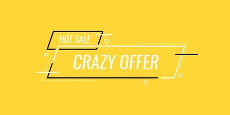 Crazy offer end of season. Sale banner template design. vector illustration. Illusztráció
