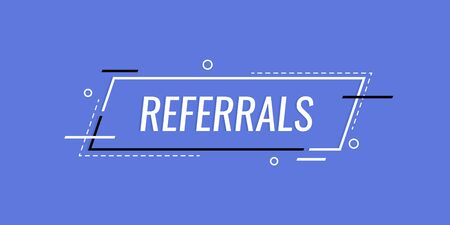 Referrals , banner template design for business, marketing and advertising. Modern flat style vector illustration.  イラスト・ベクター素材