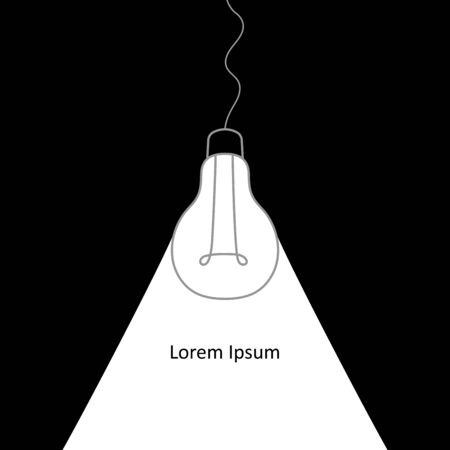 Hand drawing line light bulb. Good idea. Illustration for print, web. Vector illustration.