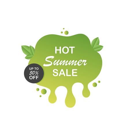 Hot summer sale label icon for your needs. Modern vector illustration.