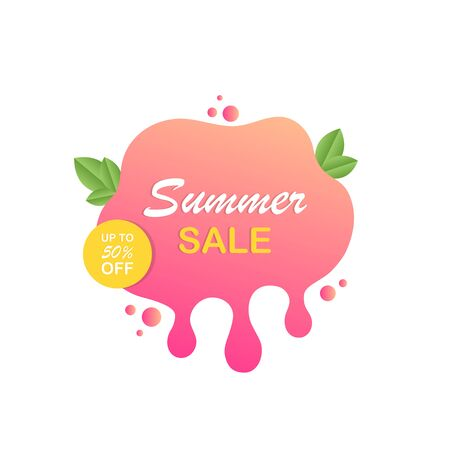 Summer sale label icon for your needs. Modern vector illustration.