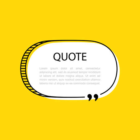 Hand drawn Speech Bubble. Space for quote and text. Vector illustration.