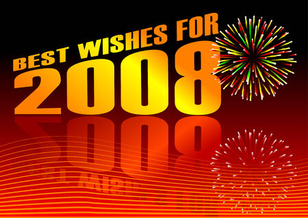 newyears: Best wishes vector Illustration