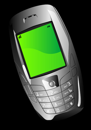 gsm phone: Vector of a cellphone