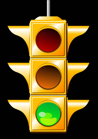 Vector of a green traffic light Illustration