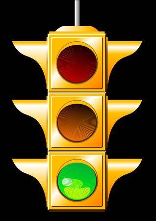 traffic control: Vector of a green traffic light Illustration