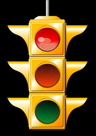 Vector of a red traffic light