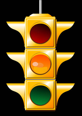 dont walk: Vector of a yellow traffic light Illustration