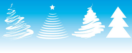 noelle: Vector of several abstract christmas trees