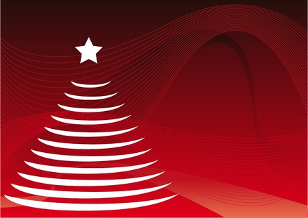 Abstract vector of a christmas tree Vector