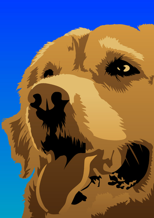 noses: Abstract vector of a dog