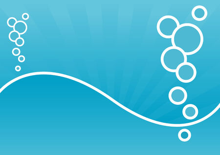 fluids: Abstract vector of blue bubbles