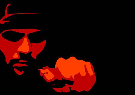 gangster with gun: Resumen de vectores de un criminal