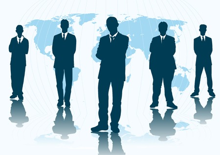 Abstract silhouette vector of global business Vector
