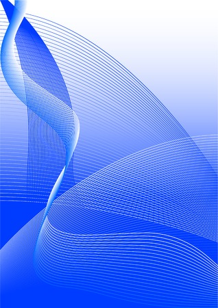 Abstract vector illustration of a blue lines background Stock Vector - 2366977
